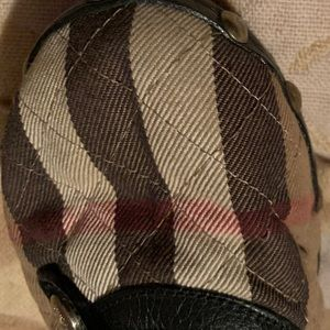 Vintage Burberry Wooden Clog in Classic Tartan